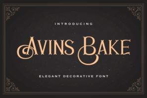 Avins Bake - Decorative Serif Font