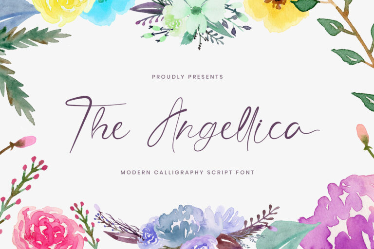 Preview image of The Angellica – Modern Calligraphy Font
