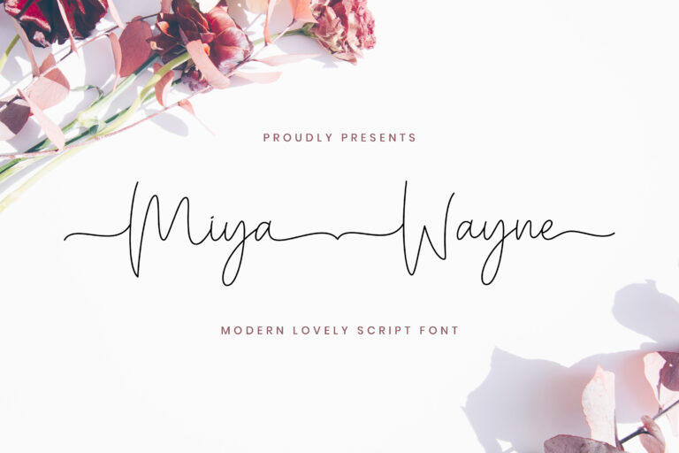 Preview image of Miya Wayne – Modern Lovely Script Font