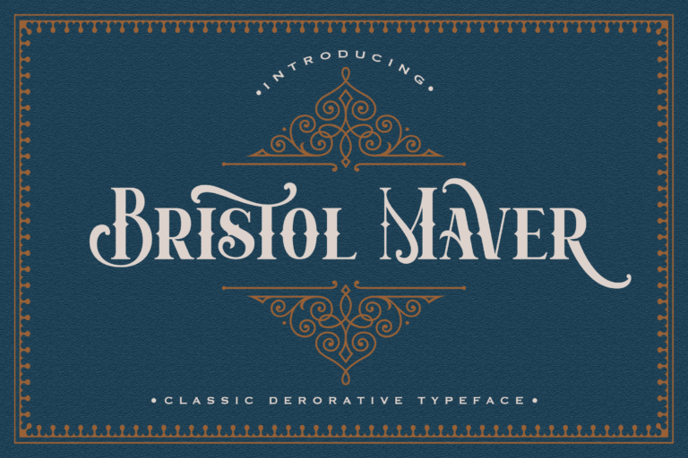 Preview image of Bristol Maver – Decorative Font