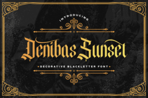 Denibas Sunset - Blackletter Font