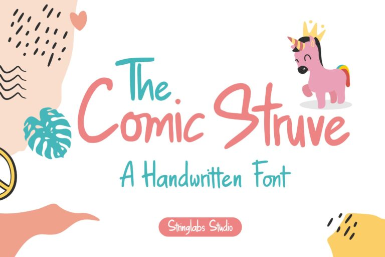 Preview image of The Comic Struve – Playful Kids Font