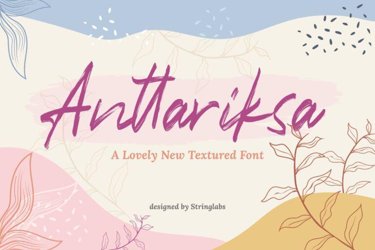 Preview image of Anttariksa – Brush Script Font