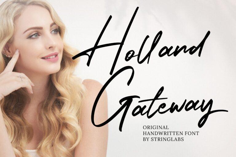 Preview image of Holland Gateway – Handwritten Script Font
