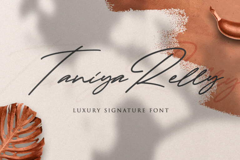 Preview image of Taniya Relly – Luxury Signature Font