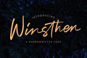 Winsthen - Handwritten Font