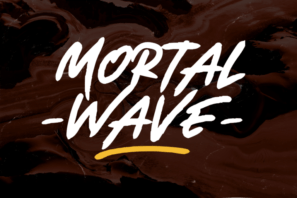 Mortal Wave - Dry Brush Font