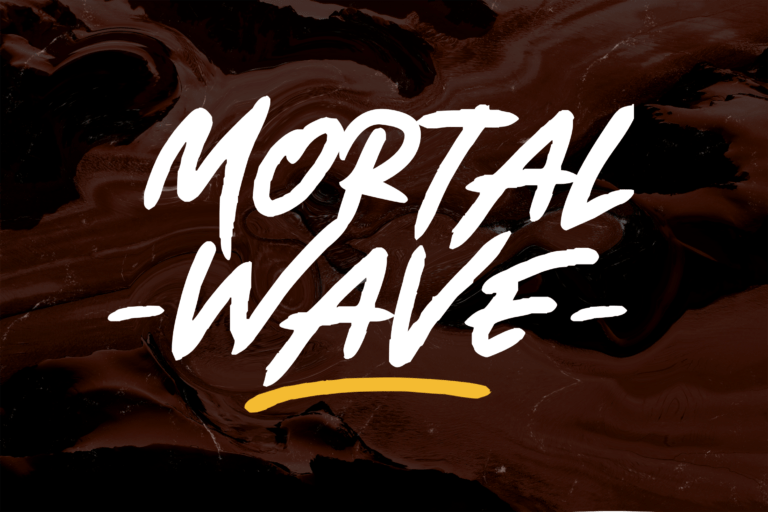 Preview image of Mortal Wave – Dry Brush Font