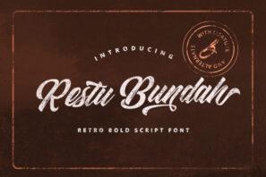 Restu Bundah - Retro Bold Script Font