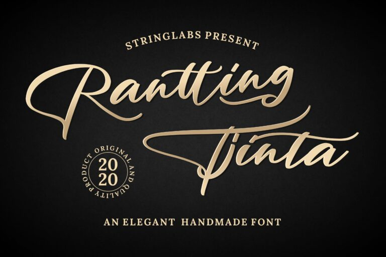 Preview image of Rantting Tjinta – Stylish Script Font