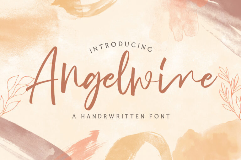 Preview image of Angelwine – Handwritten Font