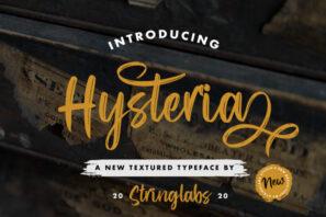 Hysteria - Stylish Script Font