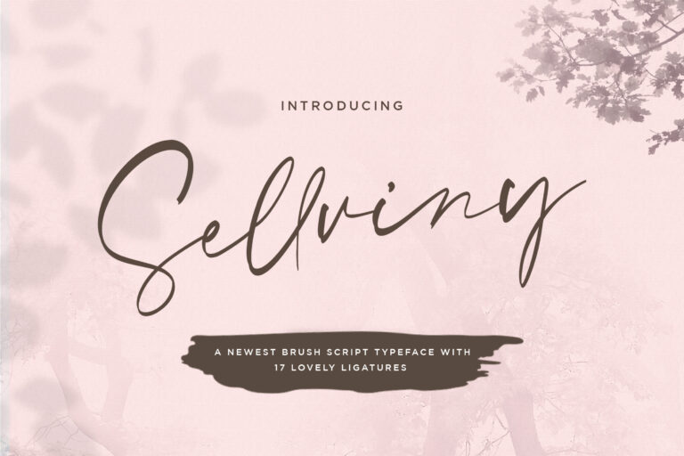 Preview image of Sellviny – Handwritten Font