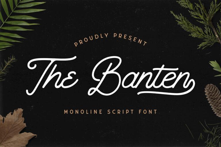 Preview image of The Banten – Monoline Script Font