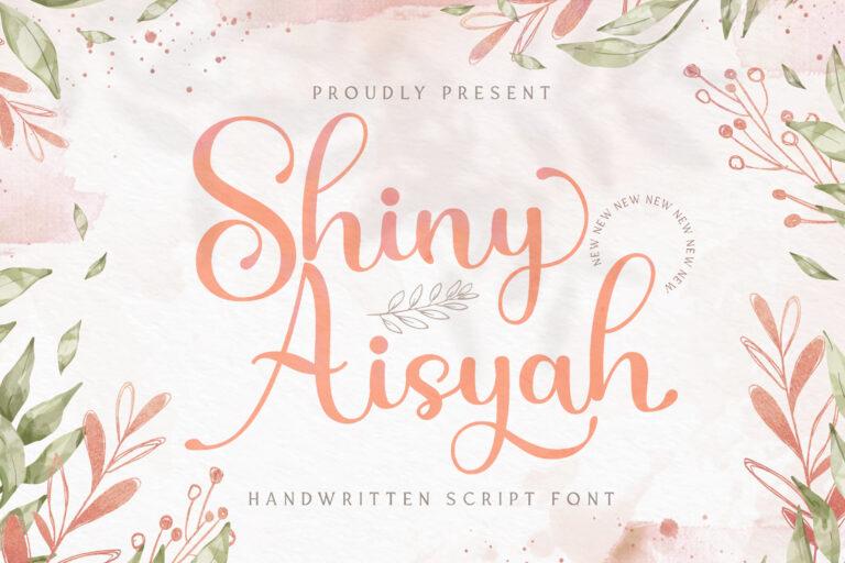 Preview image of Shiny Aisyah – Handwritten Font