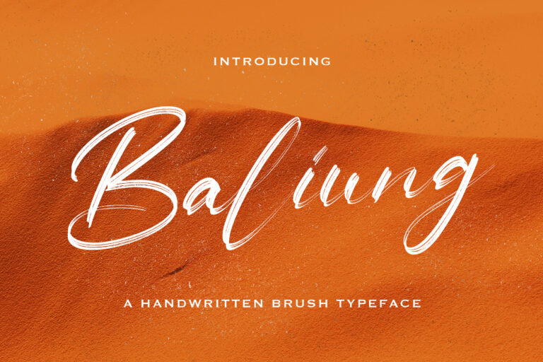 Preview image of Baliung – Handwritten Font