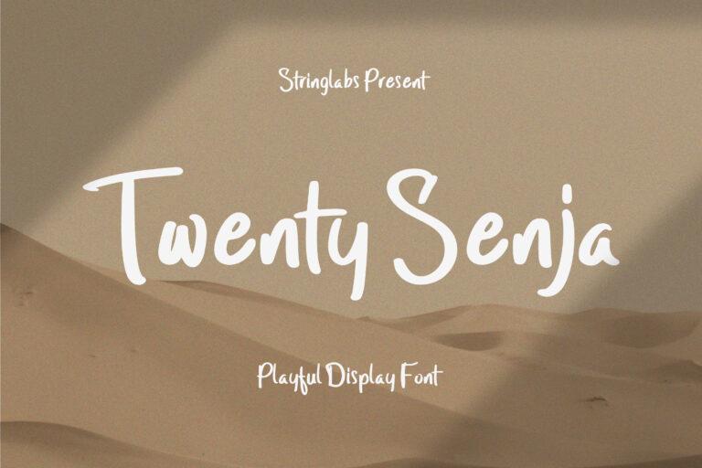 Preview image of Twenty Senja – Playful Font