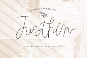 Justhin - Monoline Script Font