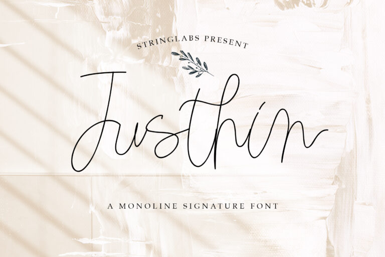 Preview image of Justhin – Monoline Script Font