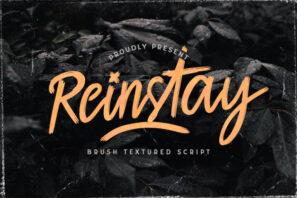 Reinstay - Brush Script Font