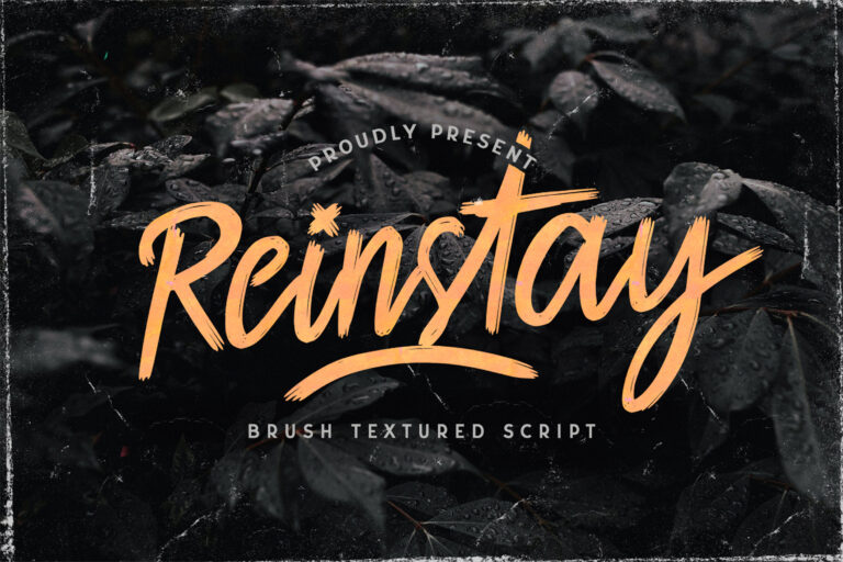 Preview image of Reinstay – Brush Script Font