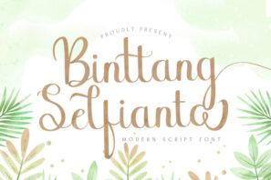 Binttang Selfianto - Script Font
