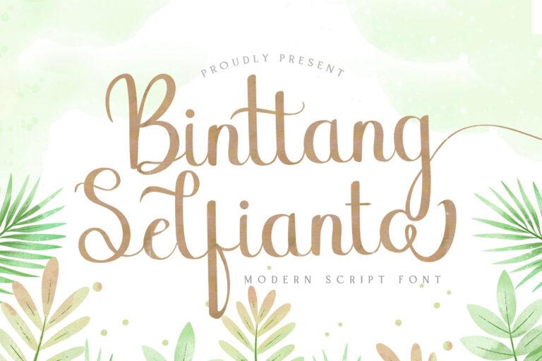 Preview image of Binttang Selfianto – Script Font