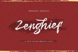 Zenghief - Hand Brush Font