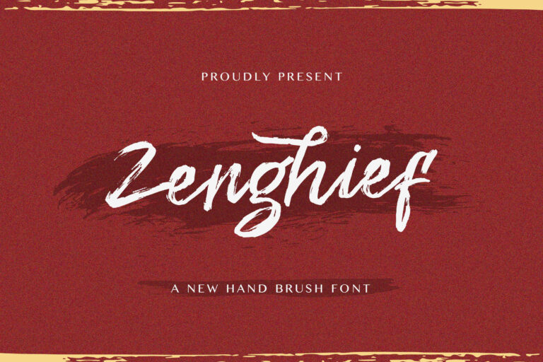 Preview image of Zenghief – Hand Brush Font
