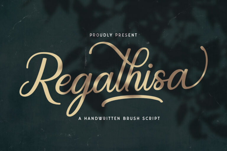 Preview image of Regalhisa – Calligraphy Font