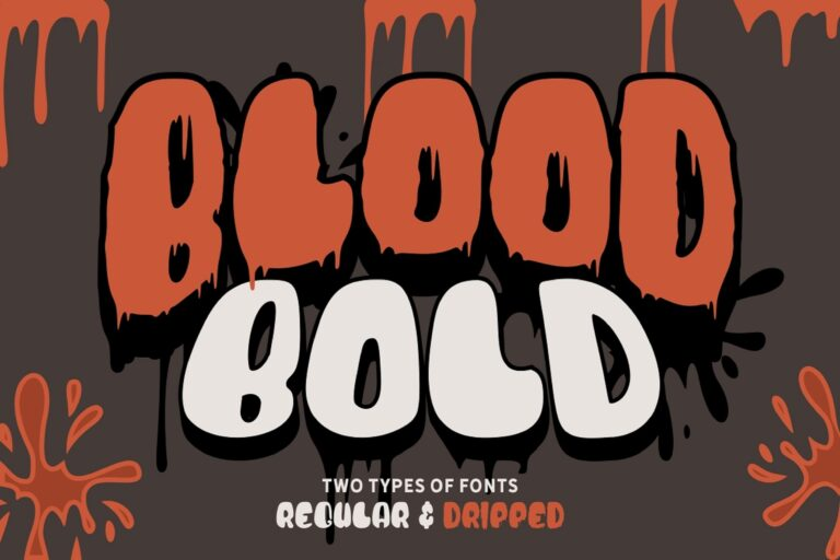 Preview image of Blood Bold – Fun Halloween Two Fonts