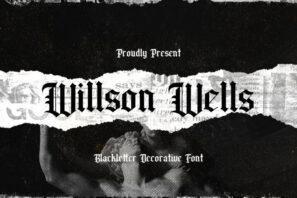 Wilson Wells - Blackletter Font