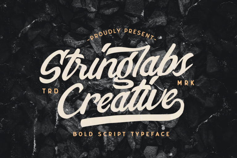 Preview image of Stringlabs Creative – Bold Script Font