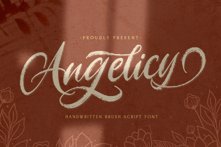 Preview image of Angelicy – Textured Brush Font