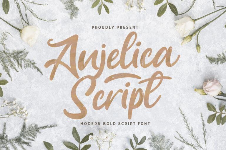 Preview image of Anjelica Script – Bold Script Font