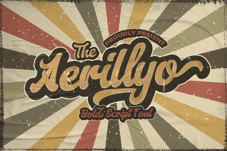 Preview image of Aerillyo – Retro Bold Script Font