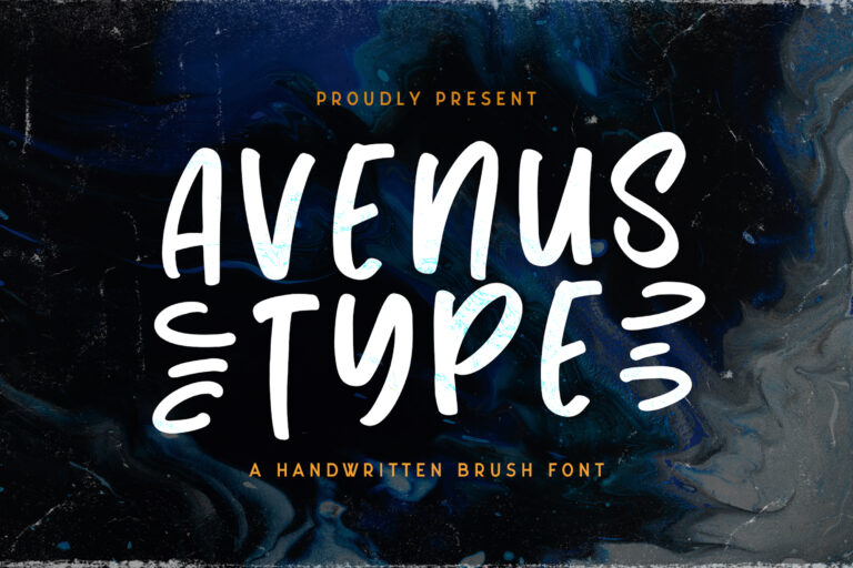 Preview image of Avenus Type – Quirky Display Font