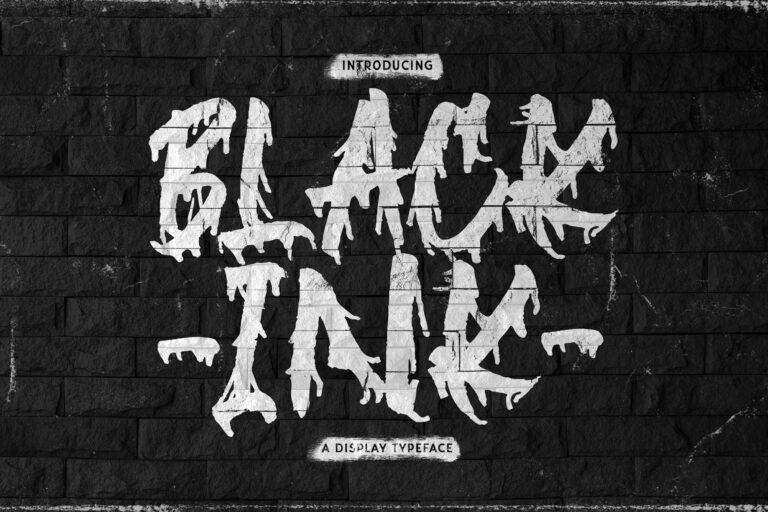 Preview image of Blackink – Street Brush Display Font