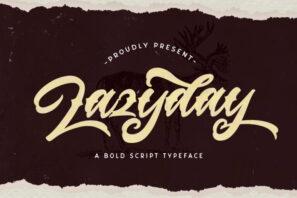 Lazyday - Bold Script Font