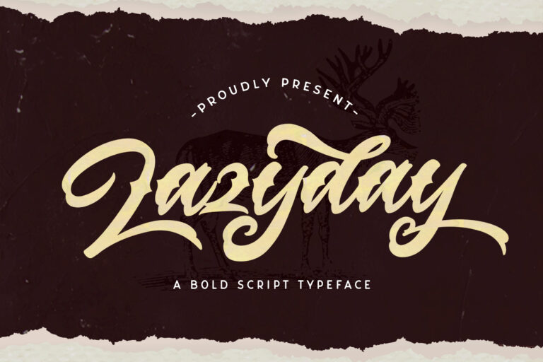 Preview image of Lazyday – Bold Script Font