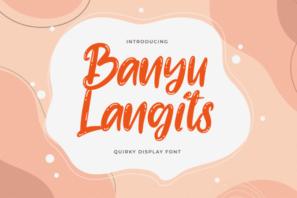 Banyu Langits - Quirky Display Font