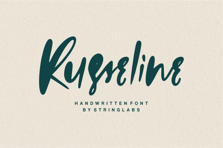 Preview image of Russeline – Handwritten Font