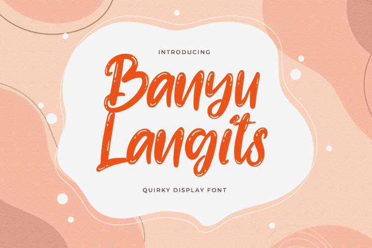 Preview image of Banyu Langits – Quirky Display Font