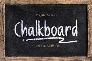 Chalk Board - A Handmade Chalk Font