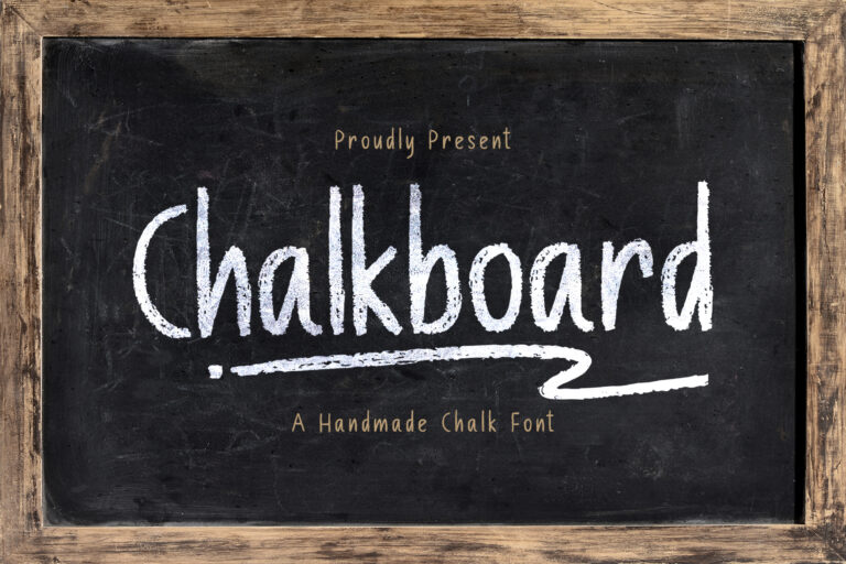 Preview image of Chalk Board – A Handmade Chalk Font