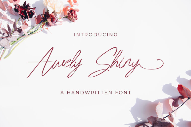 Preview image of Awely Shiny – Handwritten Font