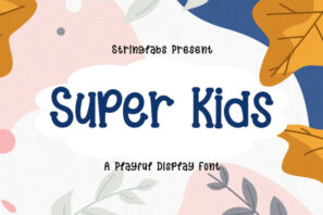 Super Kids - Playful Display Font