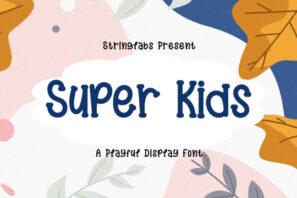 Super Kids - Playful Display Font