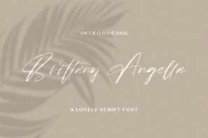Brittany Angella - Lovely Script Font