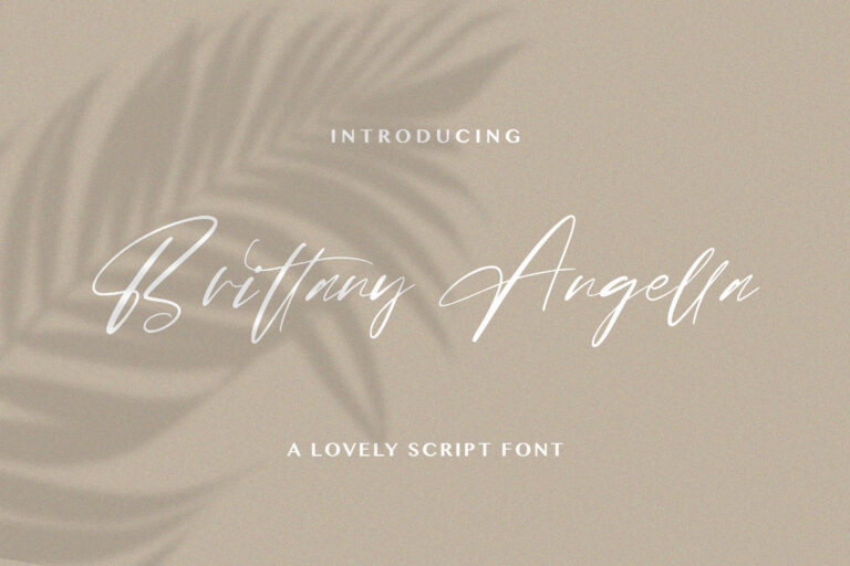 Preview image of Brittany Angella – Lovely Script Font